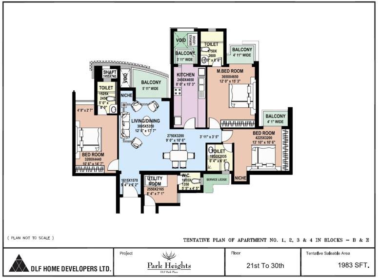 Apartment in Dlf Park place - Prithvi Estates