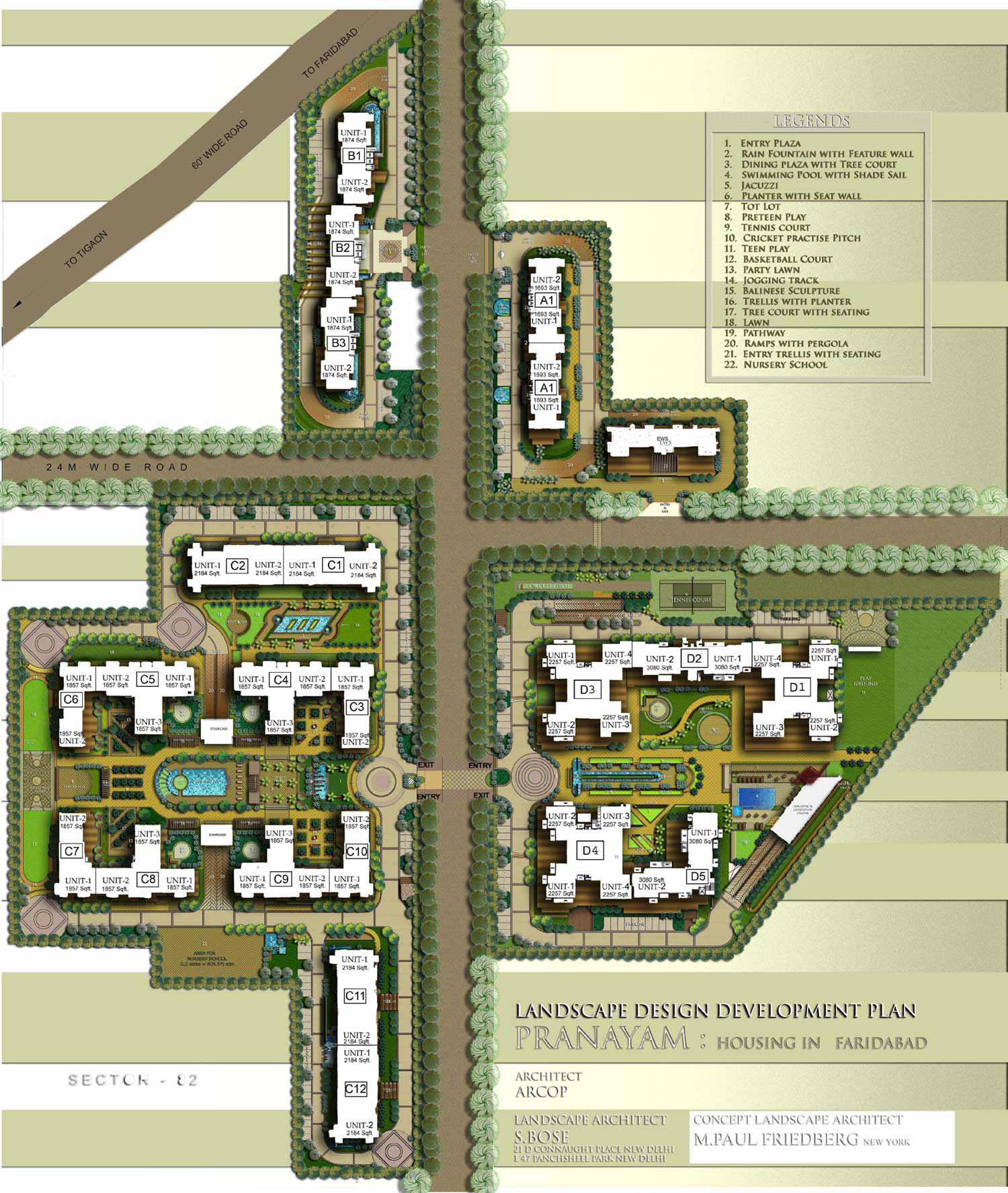 Apartment in the pranayam prithvi estates for Apartment site plan
