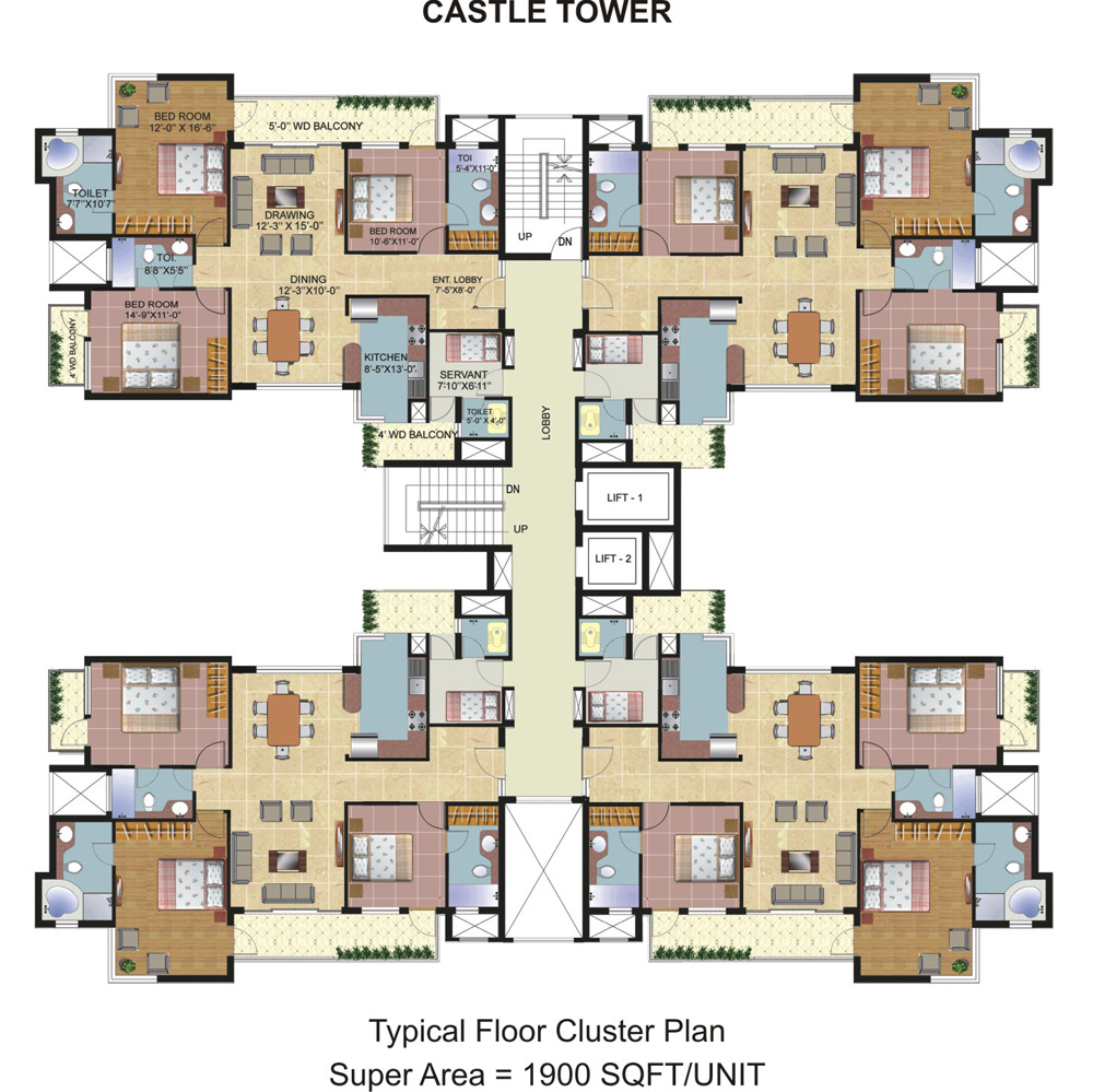 Cluster House Floor Plan: Prithvi Estates