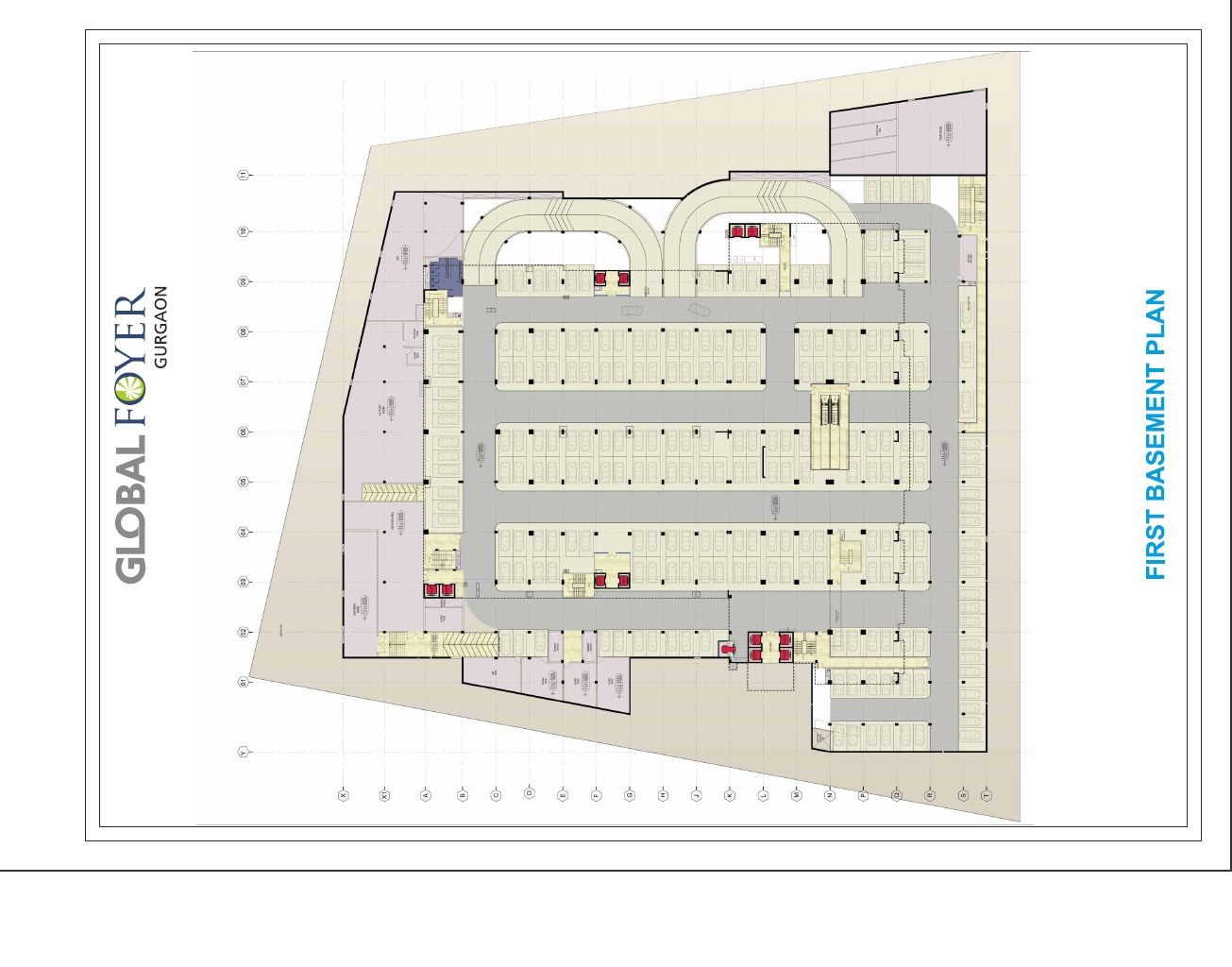 Global Foyer Floor Plan : Office space in global foyer prithvi estates