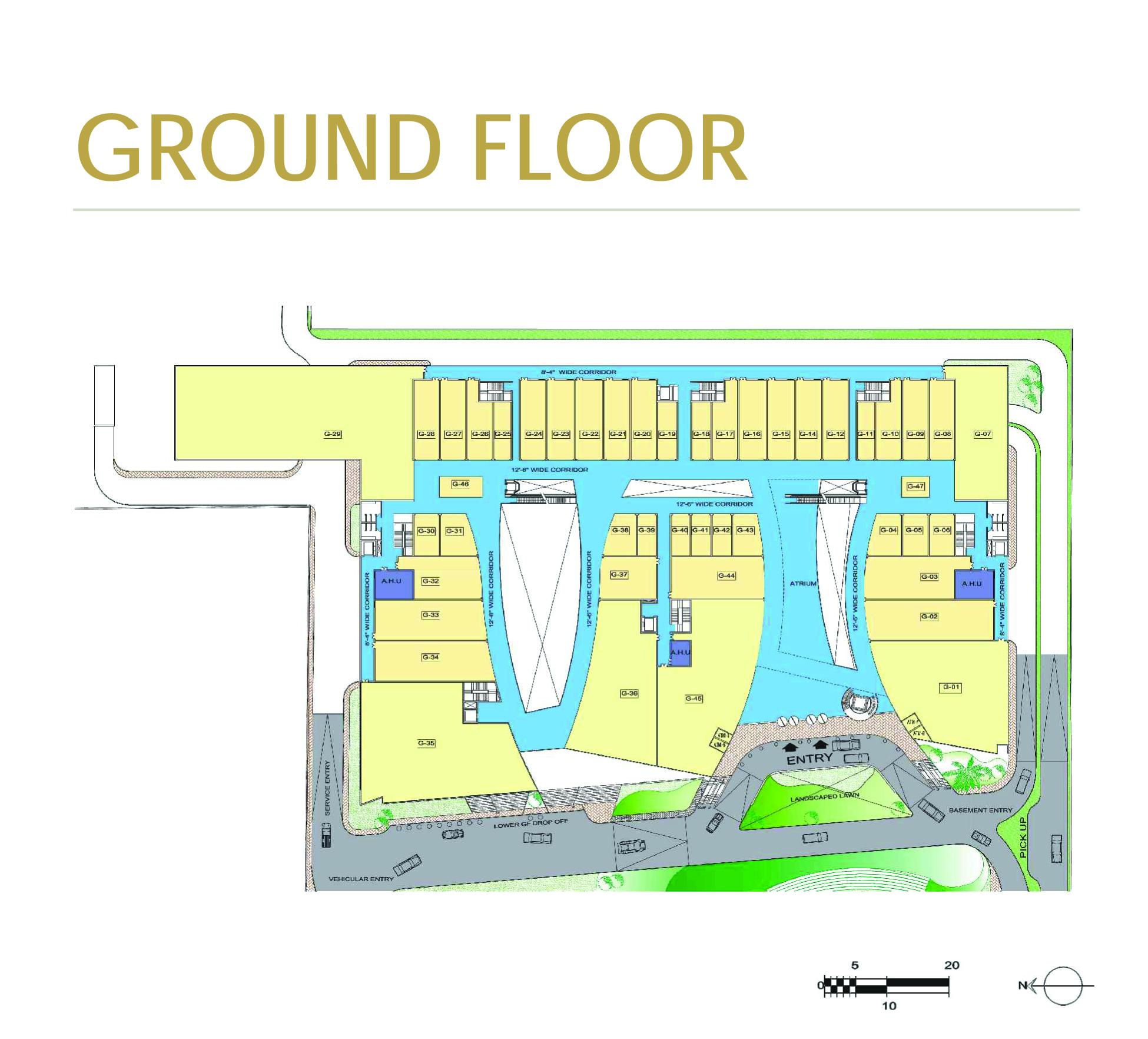 Crown interiorz mall prithvi estates for Floor plan project